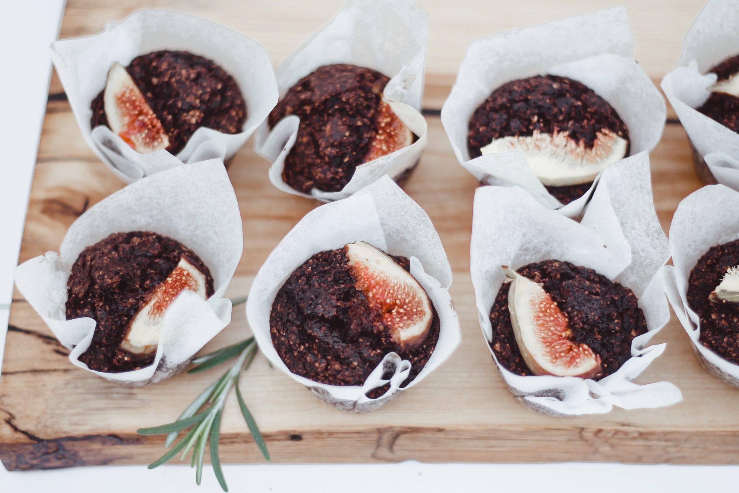 Веган шоколадови мъфини със смокини 6