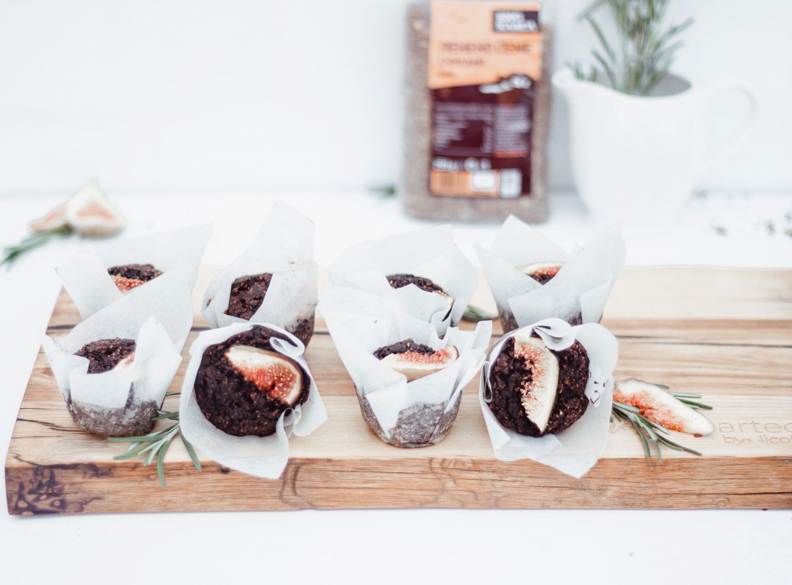 Веган шоколадови мъфини със смокини 5