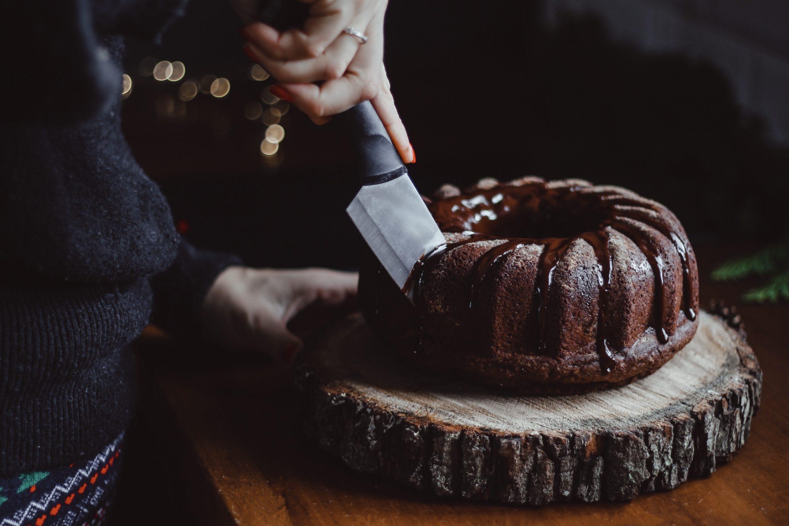Шоколадов кейк със спелта и портокал 2